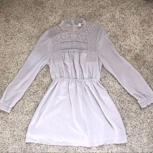 Divided Collared lace long sleeve dress from H&M
